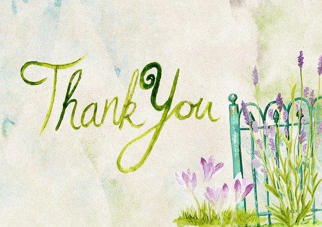 Carte de gratitude